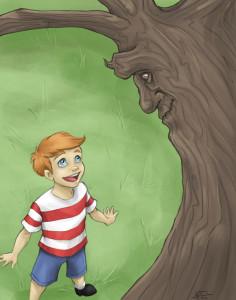 Samantha Nowak, Peter Talking with the Cottonwood tree